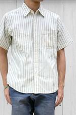 CAMCO[カムコ]シャンブレーワークシャツ S/S ストライプ