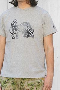 Engineered Garments[エンジニアド ガーメンツ]プリントポケットTシャツ PEACOCK