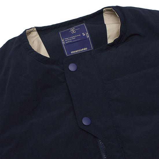 meanswhile[ミーンズワイル]Memory Peach/Outlast Loop Zip Vest