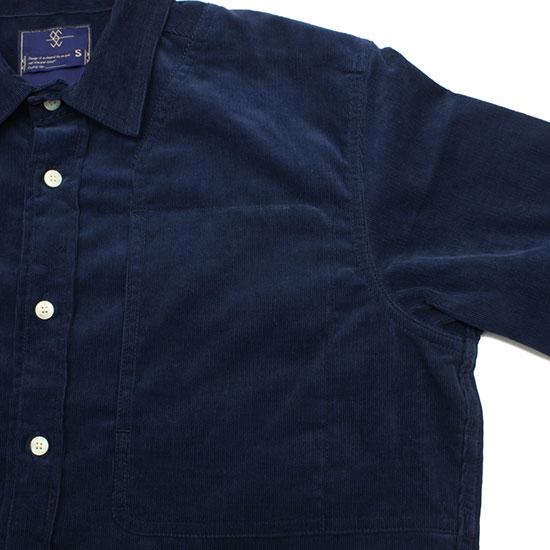 meanswhile[ミーンズワイル]Corduroy Sholder Pad Work Shirt