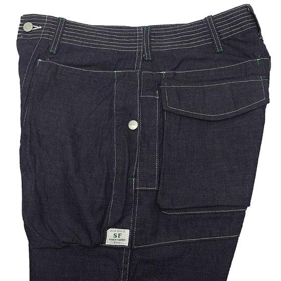 SASSAFRAS[ササフラス]Digs Crew Pants 1/2 8oz Denim