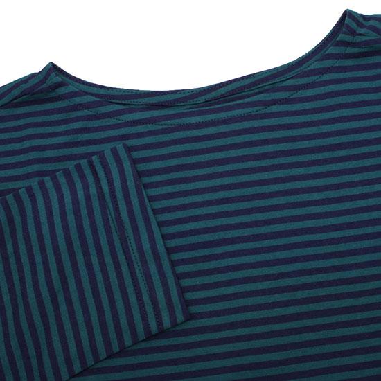 pyjama clothing[ピジャマクロージング]マリンボートネックストライプTee