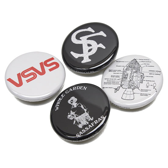 SASSAFRAS[ササフラス]BADGE BLACK&WHITE