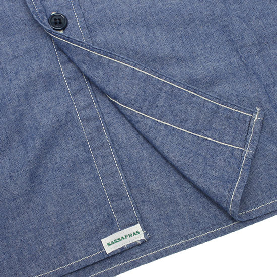 SASSAFRAS[ササフラス]G.D.U SHIRT 5oz CHAMBRAY