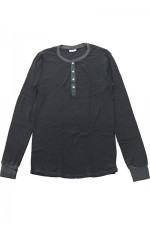 Schiesser[シーサー]KARL HEINZ LONG SLEEVE BUTTON BORDER 159365
