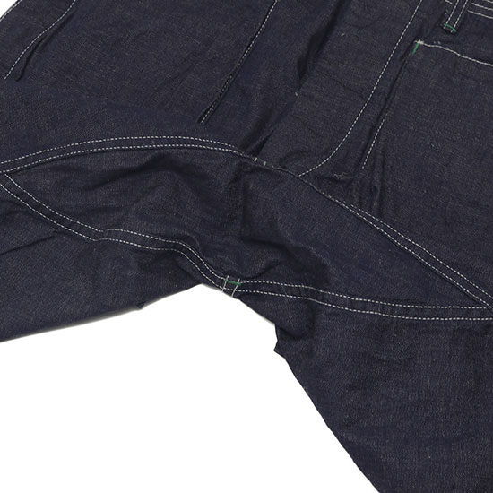 SASSAFRAS[ササフラス]Digs Crew Pants 1/2 8oz Denim
