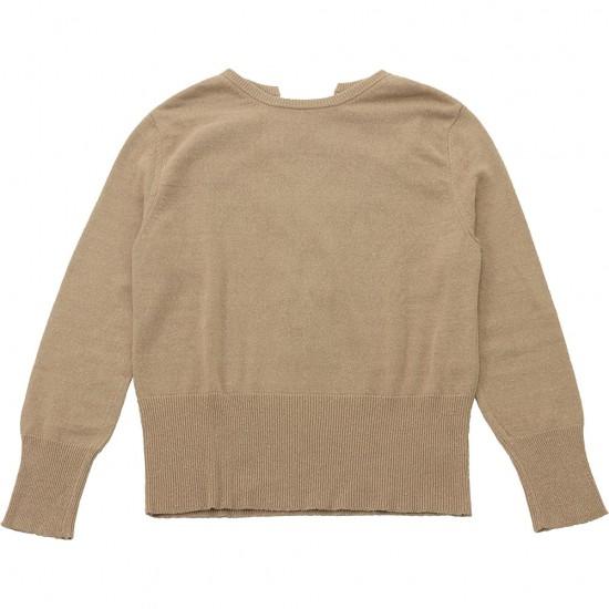 nowos[ノーウォス]シルク編みあげプルオーバーニット 4302005217