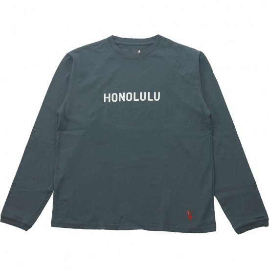 grown in the sun[グローンインザサン]Long Sleeve T-Shirts HONOLULU TIME