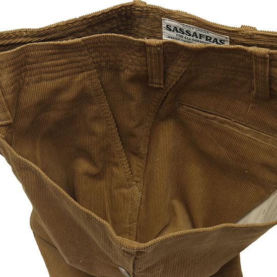 SASSAFRAS[ササフラス]Fall Leaf Sprayer Pants 1/2 Summer Corduroy