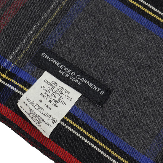 Engineered Garments[エンジニアド ガーメンツ]Long Scarf Brushed Plaid