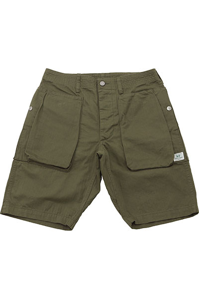 SASSAFRAS[ササフラス]Digs Crew Pants 1/2 Herringbone Twill
