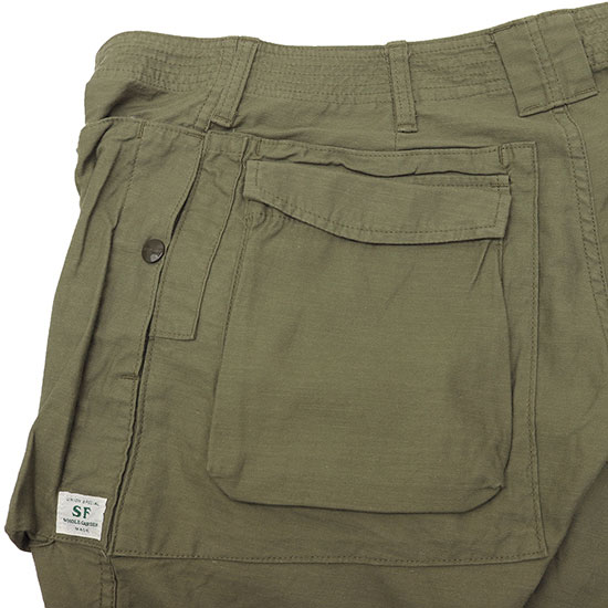 SASSAFRAS[ササフラス]Digs Crew Pants Back Satin