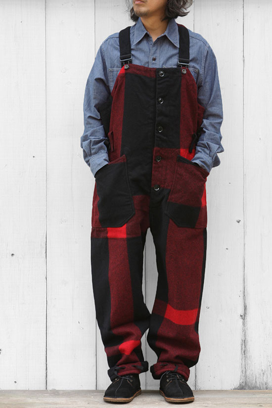 Engineered Garments[エンジニアド ガーメンツ]Overalls Melton Big Plaid