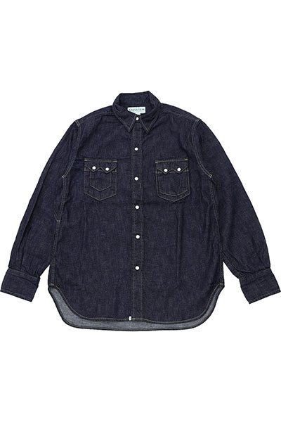 SASSAFRAS[ササフラス]Weeds Digger Half 8oz Denim