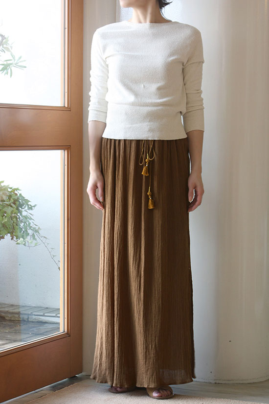 nowos[ノーウォス]Creps skirt 4705005341
