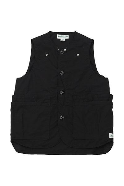 SASSAFRAS[ササフラス]Whole Hole Vest Poplin×Nylon Taffeta