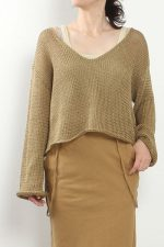 nowos[ノーウォス]Linen sweater 5002005455