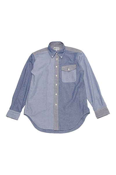 Engineered Garments[エンジニアド ガーメンツ]Workaday BD Shirt Combo-Cotton Chambray