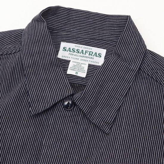 SASSAFRAS[ササフラス]Diggin Shirt 5oz Indigo Stripe SF-201619