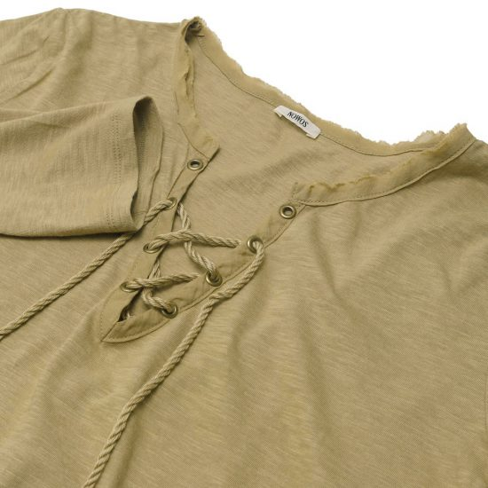 nowos[ノーウォス]Lace-up t-shirt 5001005448