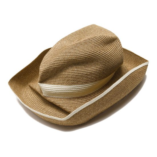 mature ha. [マチュアーハ] BOXED HAT 11cm brim switch color line wide MBOX-101SWW