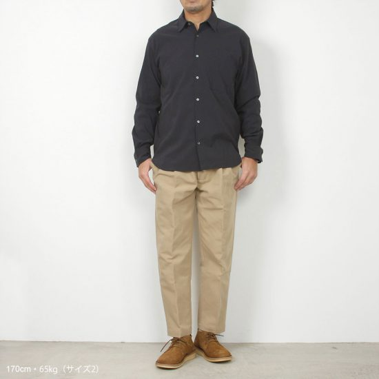 LAMOND[ラモンド]Double Weave Wide Tapered Trousers LM-P-068